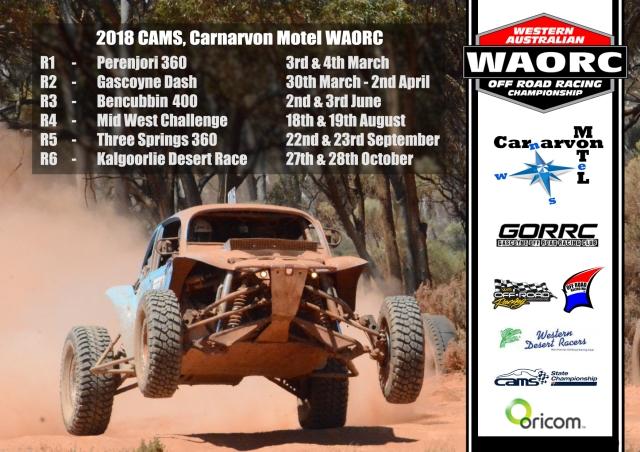2018 waorc calendar western australian off road racing championship